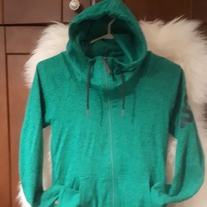 Rare Bright green crackled Bench hoodie